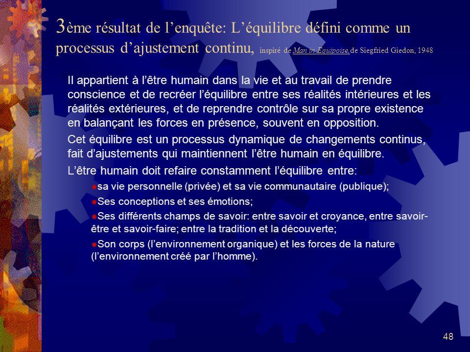 47 2ème résultat de lenquête: Lhumanisme constitue un choix moral et une nécessité sociale existentiels C est parce que nous sommes en quête de sens d