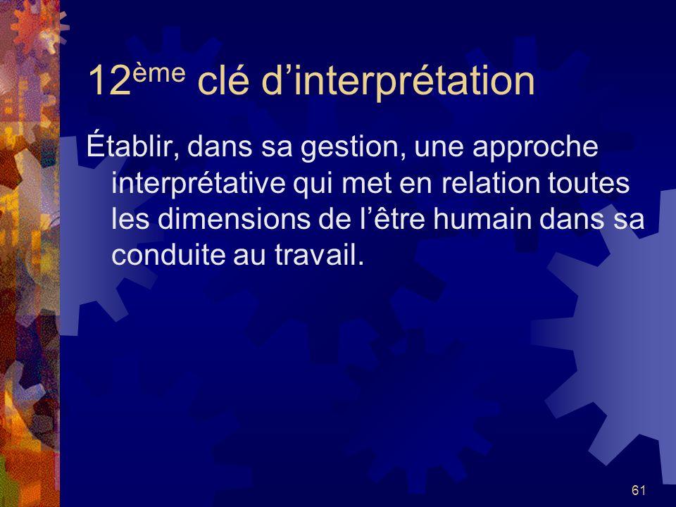 60 11 ème clé dinterprétation Parmi les processus daccompagnement et de formation des cadres dans la réalité des organisations daujourdhui, il y a le
