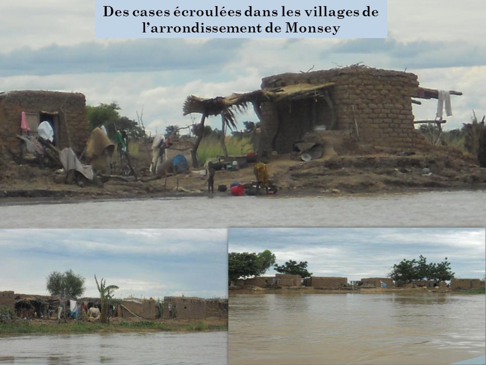 Des cases écroulées dans les villages de larrondissement de Monsey