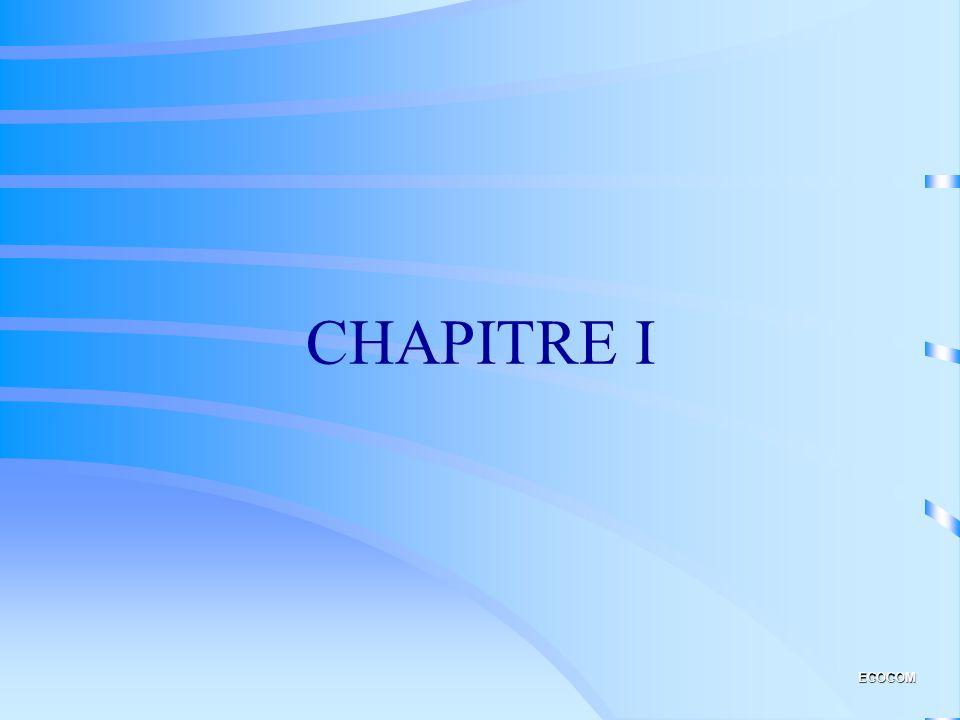 CHAPITRE I ECOCOM