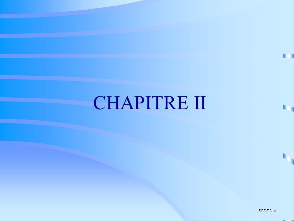 CHAPITRE II ECOCOM