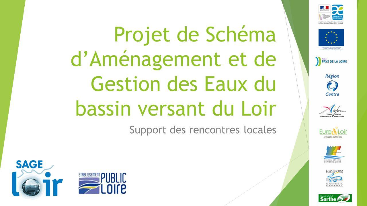 Projet de Schéma dAménagement et de Gestion des Eaux du bassin versant du Loir Support des rencontres locales