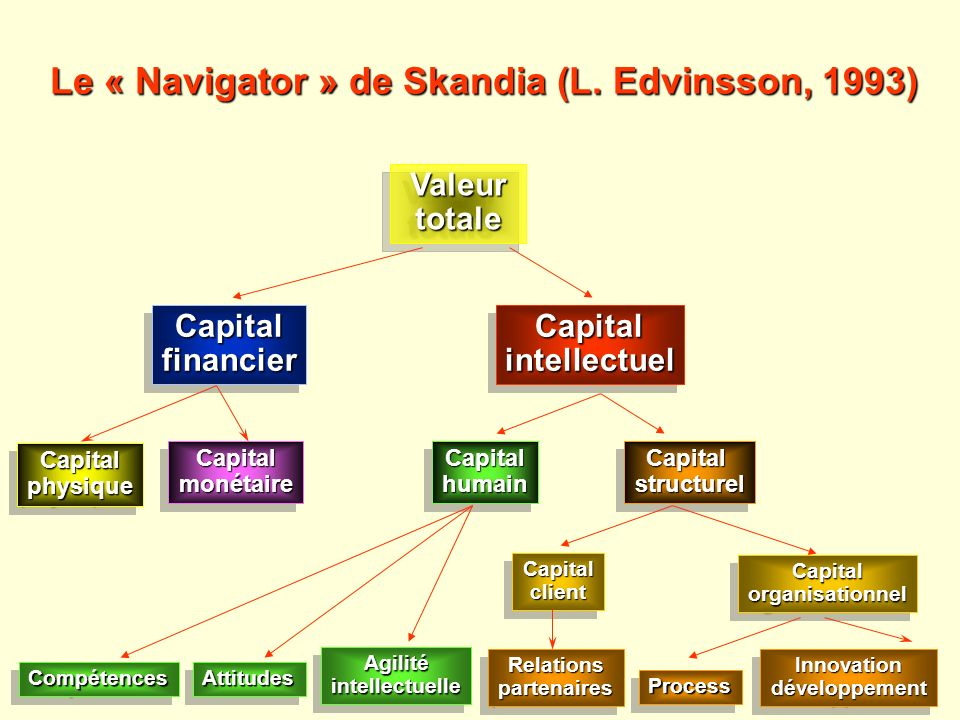Valeur Valeurtotale totale CapitalfinancierCapitalfinancierCapitalintellectuelCapitalintellectuel CapitalphysiqueCapitalphysique CapitalmonétaireCapit