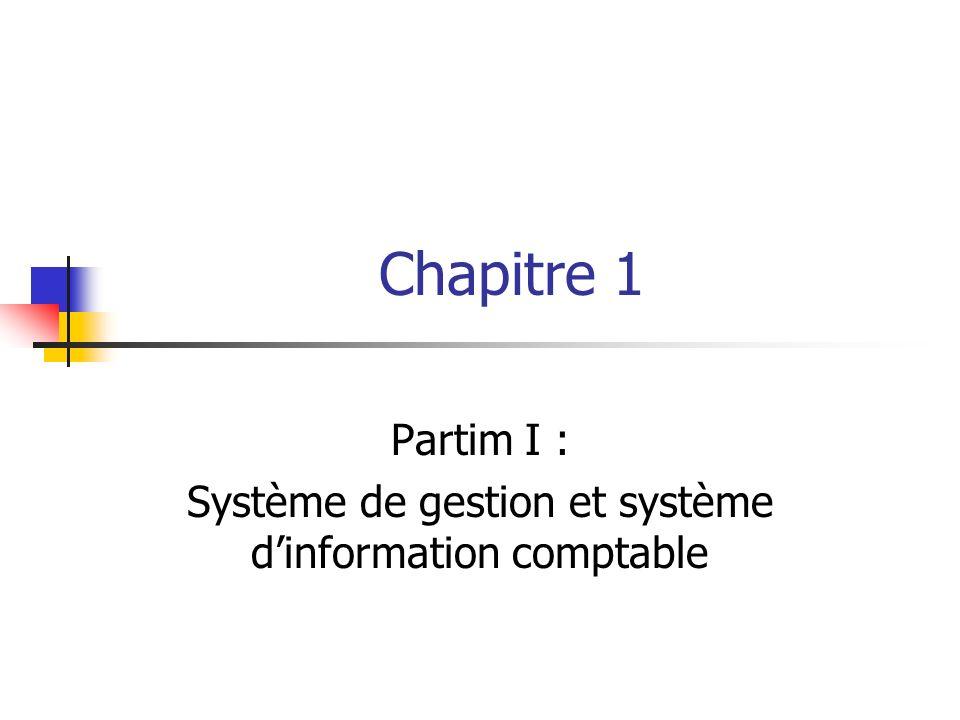 Chapitre 1 Partim I : Système de gestion et système dinformation comptable