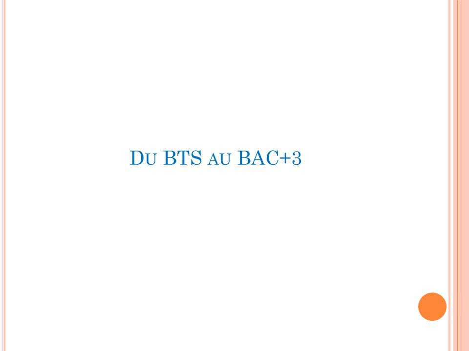 D U BTS AU BAC+3