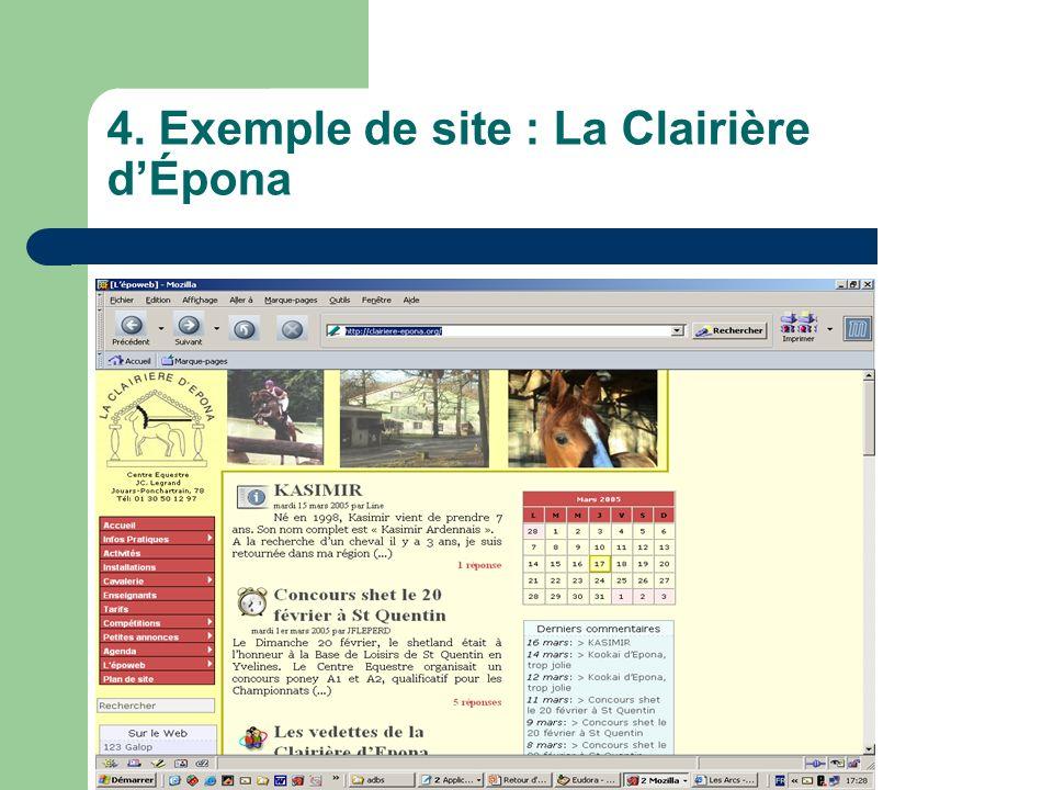 4. Exemple de site : La Clairière dÉpona