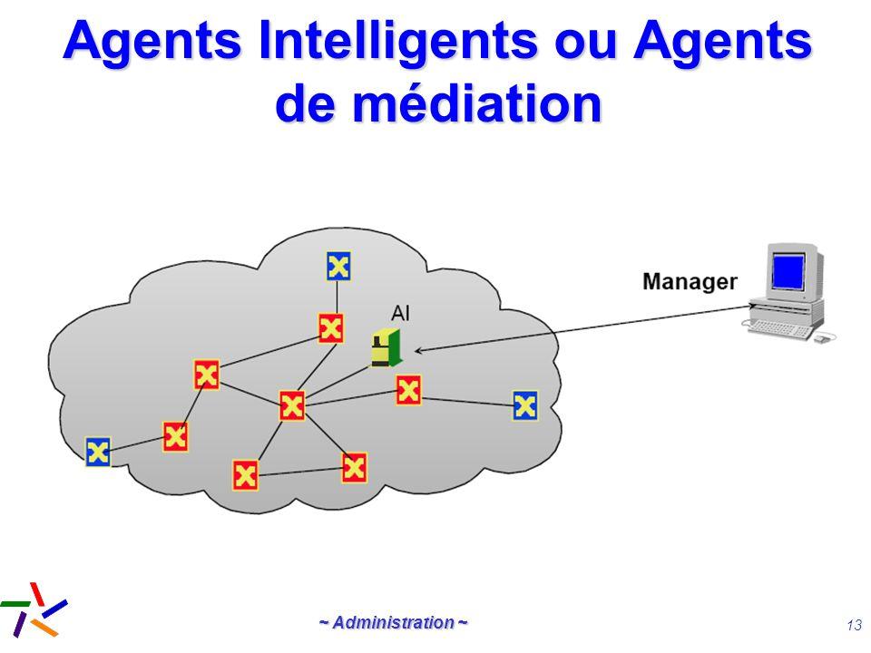 ~ Administration ~ 13 Agents Intelligents ou Agents de médiation