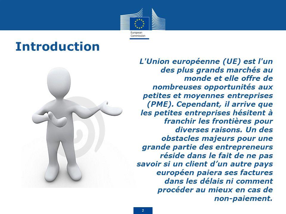 L Union européenne (UE) est l un des plus grands marchés au monde et elle offre de nombreuses opportunités aux petites et moyennes entreprises (PME).