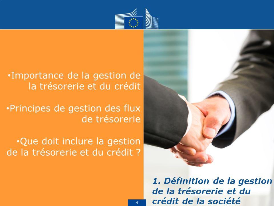 Importance de la gestion de la trésorerie et du crédit Principes de gestion des flux de trésorerie Que doit inclure la gestion de la trésorerie et du crédit .