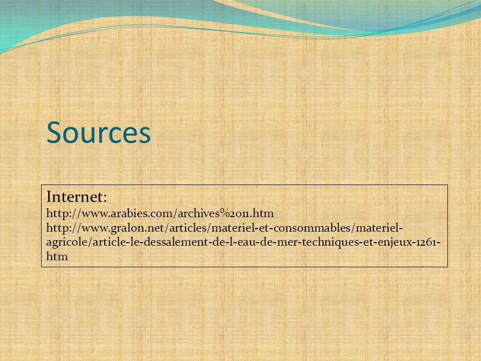 Sources Internet: http://www.arabies.com/archives%2011.htm http://www.gralon.net/articles/materiel-et-consommables/materiel- agricole/article-le-dessa
