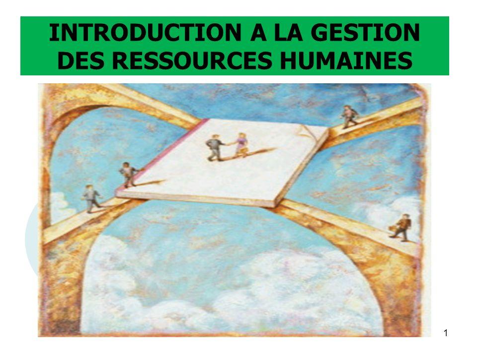 INTRODUCTION A LA GESTION DES RESSOURCES HUMAINES 1