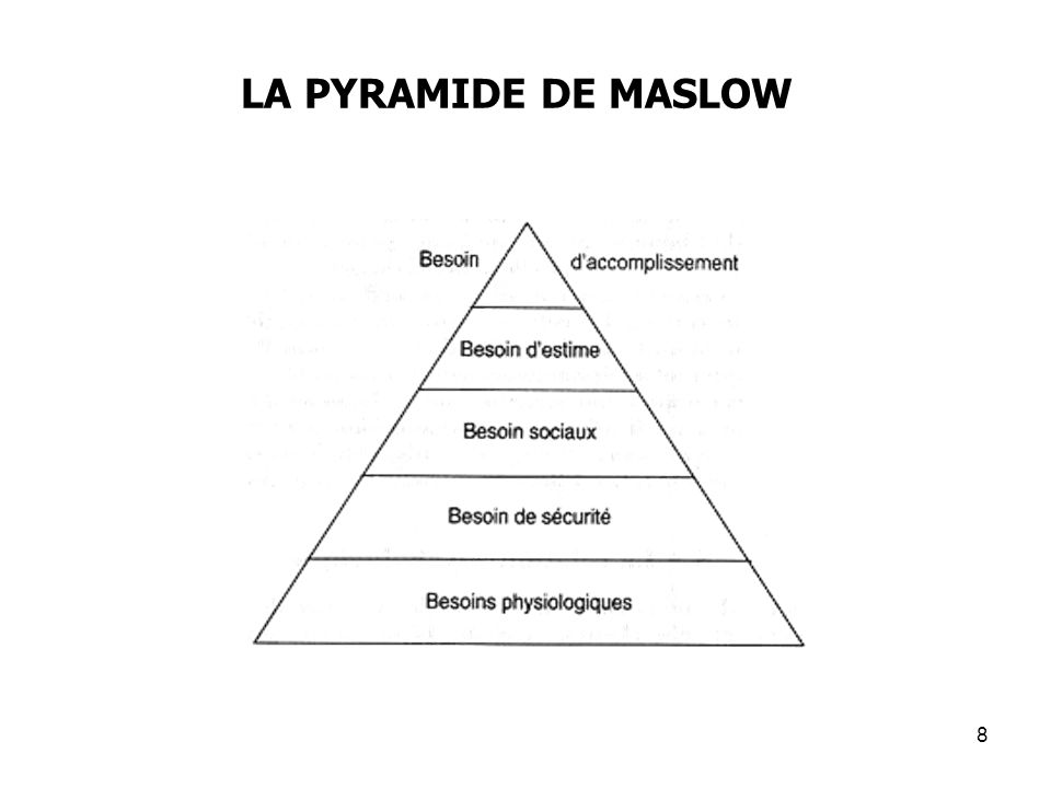LA PYRAMIDE DE MASLOW 8