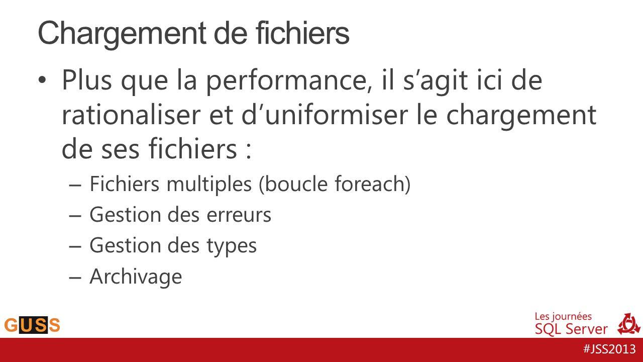#JSS2013 Plus que la performance, il sagit ici de rationaliser et duniformiser le chargement de ses fichiers : – Fichiers multiples (boucle foreach) –