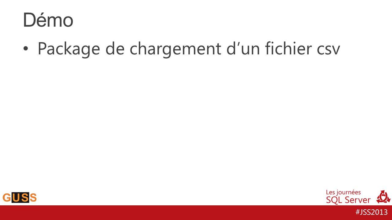 #JSS2013 Package de chargement dun fichier csv Démo