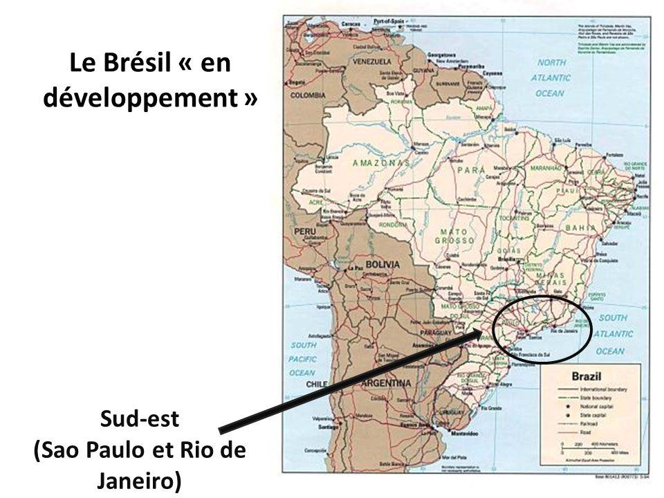 Sud-est (Sao Paulo et Rio de Janeiro) Le Brésil « en développement »