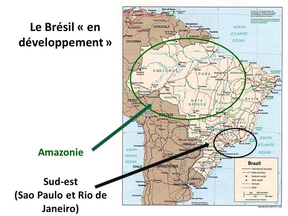 Amazonie Sud-est (Sao Paulo et Rio de Janeiro) Le Brésil « en développement »