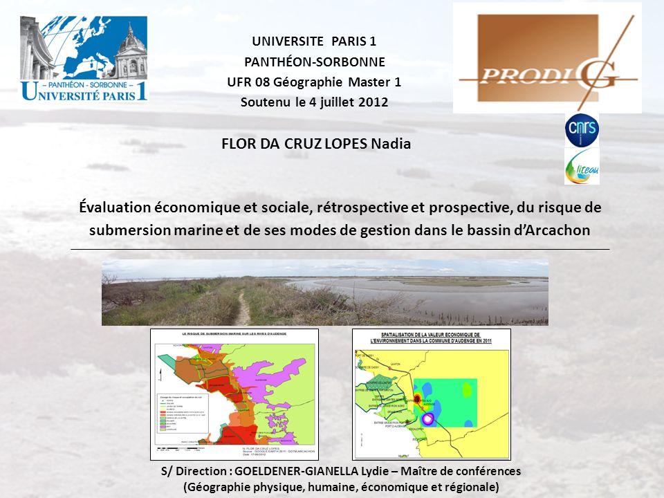 UNIVERSITE PARIS 1 PANTHÉON-SORBONNE UFR 08 Géographie Master 1 Soutenu le 4 juillet 2012 Évaluation économique et sociale, rétrospective et prospecti