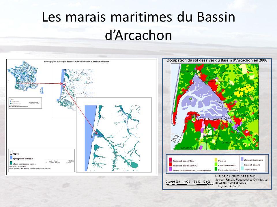 Les marais maritimes du Bassin dArcachon Logiciel : AcGis.10 N. FLOR DA CRUZ LOPES/ 2012 Source : R é seau Partenarial es Donn é es sur les Zones Humi