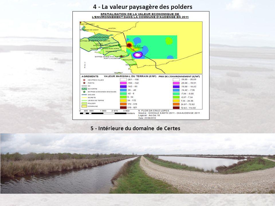 4 - La valeur paysagère des polders 5 - Intérieure du domaine de Certes
