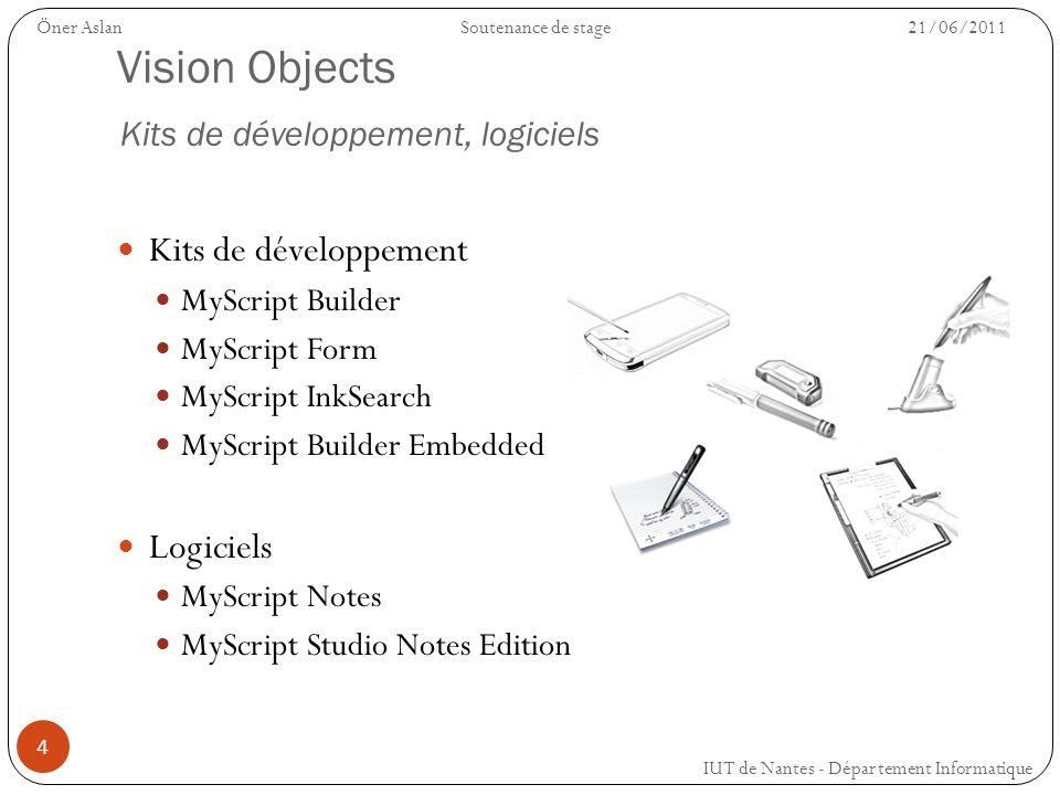 4 Vision Objects Kits de développement, logiciels Kits de développement MyScript Builder MyScript Form MyScript InkSearch MyScript Builder Embedded Lo
