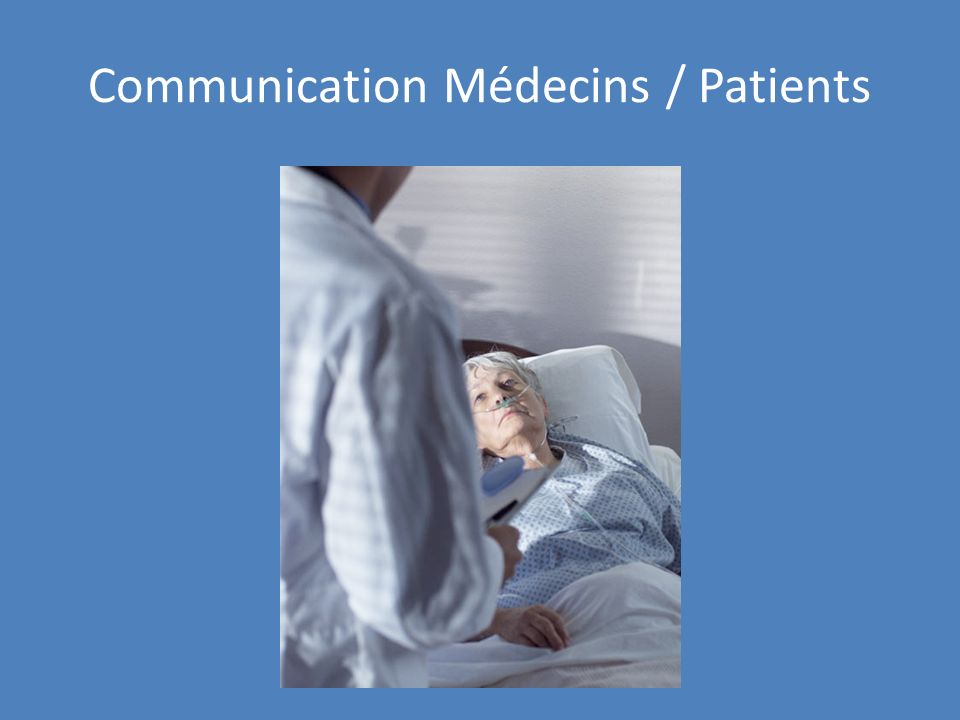 Communication Médecins / Patients