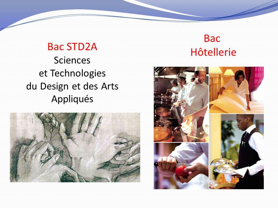 Bac STD2A Sciences et Technologies du Design et des Arts Appliqués Bac Hôtellerie