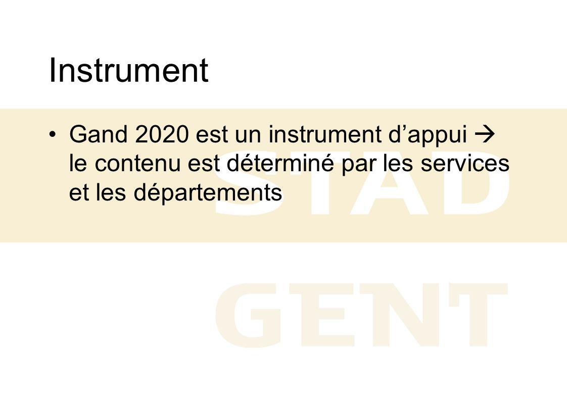 Instrument Gand 2020 est un instrument dappui le contenu est déterminé par les services et les départements