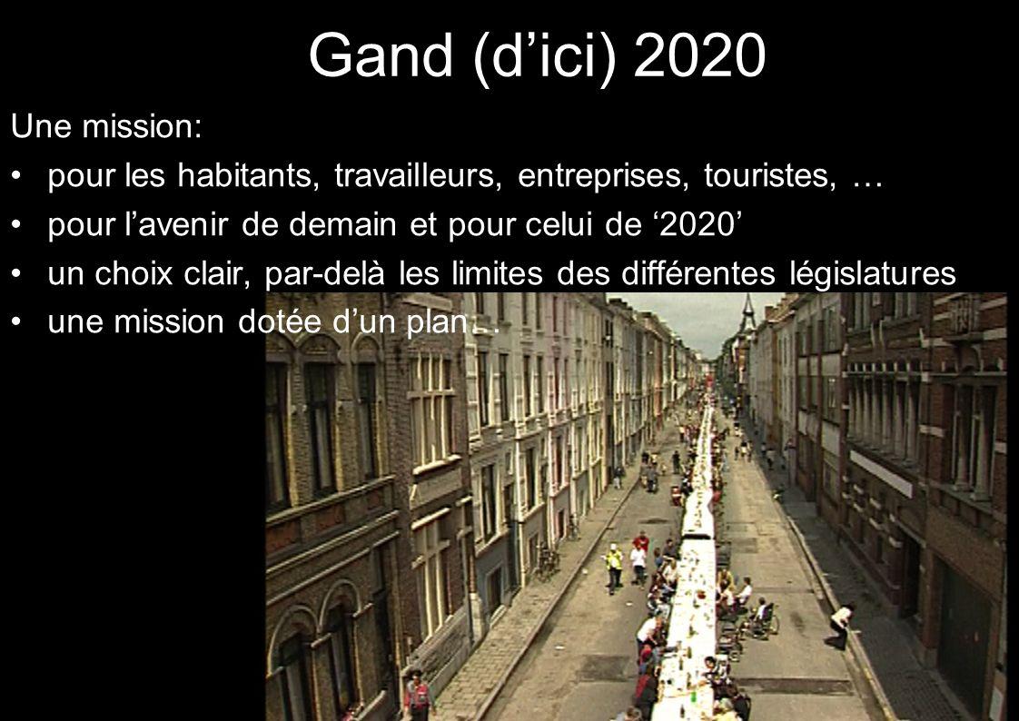 Gand (dici) 2020 Une mission: pour les habitants, travailleurs, entreprises, touristes, … pour lavenir de demain et pour celui de 2020 un choix clair,