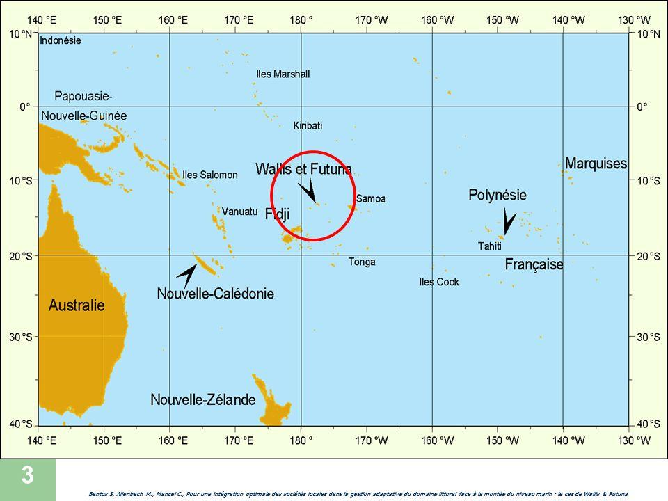 4 Introduction Questionnement général Bantos S, Allenbach M., Mancel C., Pour une intégration optimale des sociétés locales dans la gestion adaptative du domaine littoral face à la montée du niveau marin : le cas de Wallis & Futuna Quelles stratégies dadaptation face à la montée du niveau marin pour les espaces insulaires isolés ultramarins français .