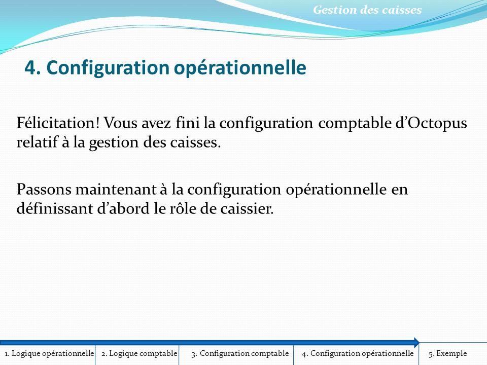 1.Logique opérationnelle 2. Logique comptable 3. Configuration comptable 4.