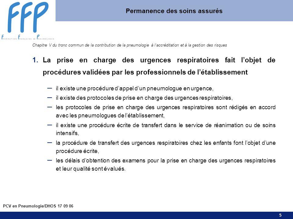 16 PCV en Pneumologie/DHOS 17 09 06 Demande 1.L intégration des hospitalo-universitaires 2.