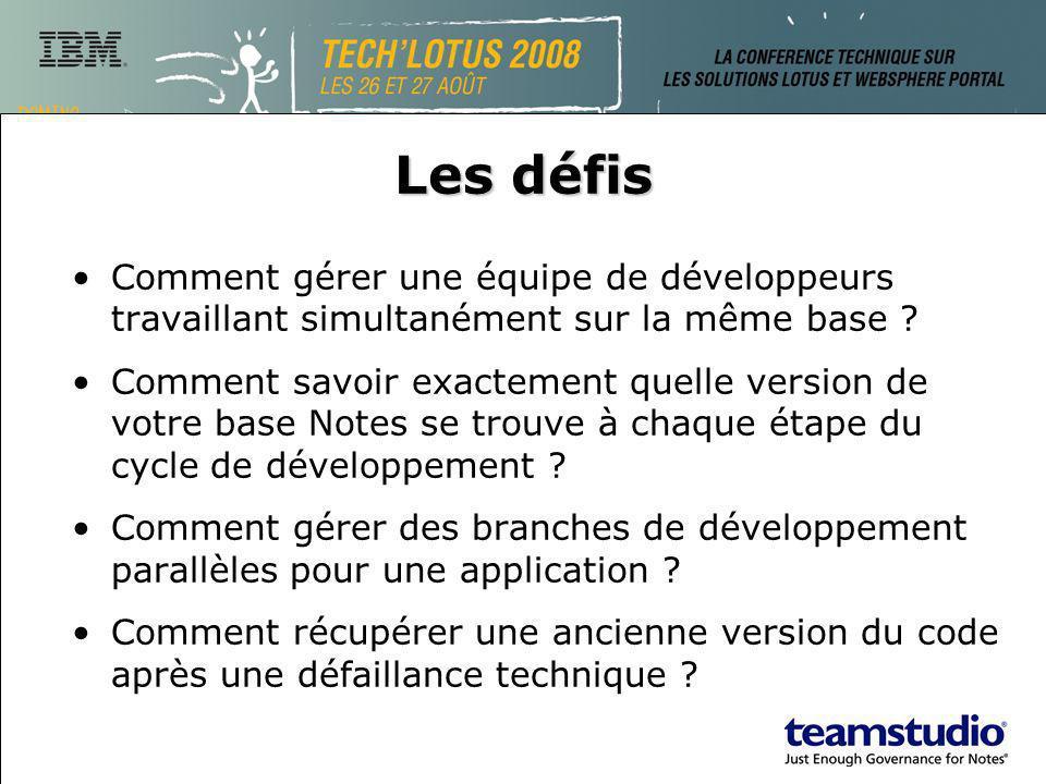 Les défis Comment gérer une équipe de développeurs travaillant simultanément sur la même base .