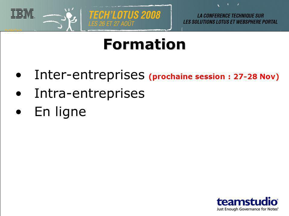 Formation Inter-entreprises (prochaine session : 27-28 Nov) Intra-entreprises En ligne