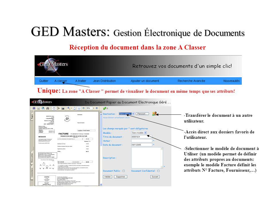 GED Masters: Gestion Électronique de Documents Unique: La zone