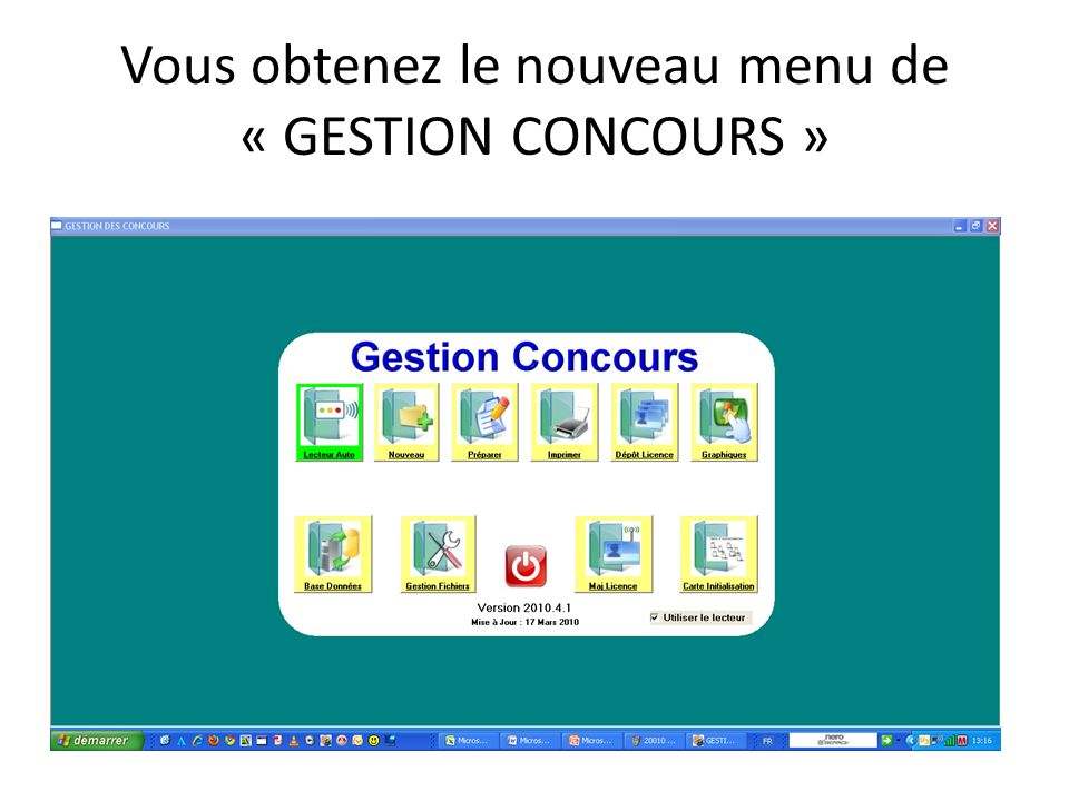 Gestion Graphique Gestion dun concours avec un ordinateur du début jusquà la finale Cet écran est un exemple de graphique tirage par poules.