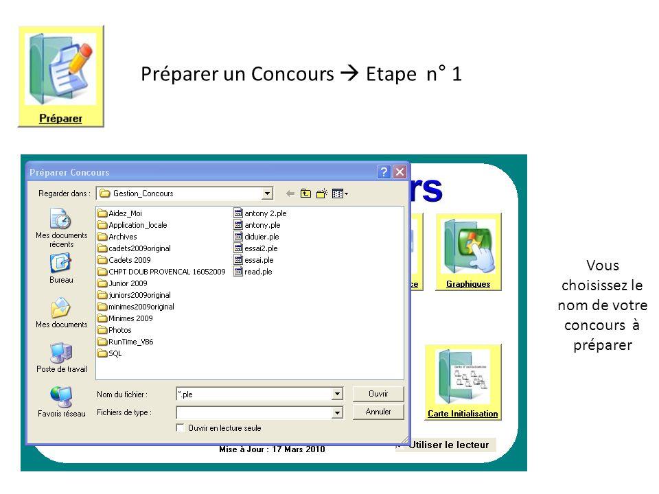 Vous choisissez le niveau de protection de votre concours Préparer un Concours Etape n° 2