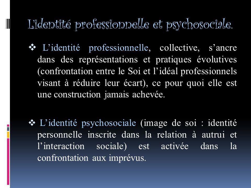 Lidentité professionnelle et psychosociale.