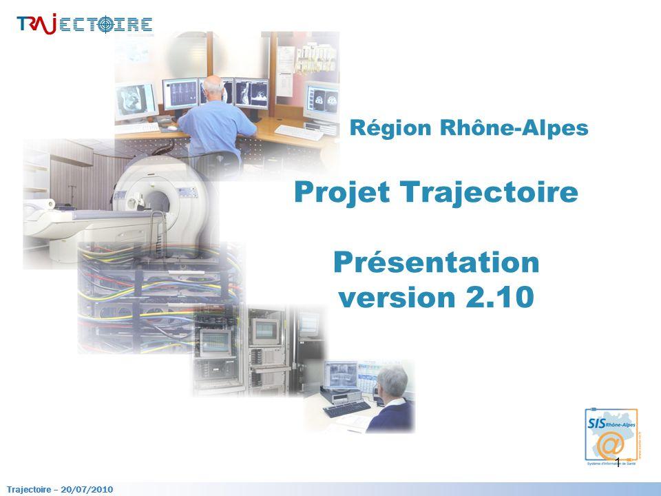 Trajectoire – 20/07/2010 1 Région Rhône-Alpes Projet Trajectoire Présentation version 2.10