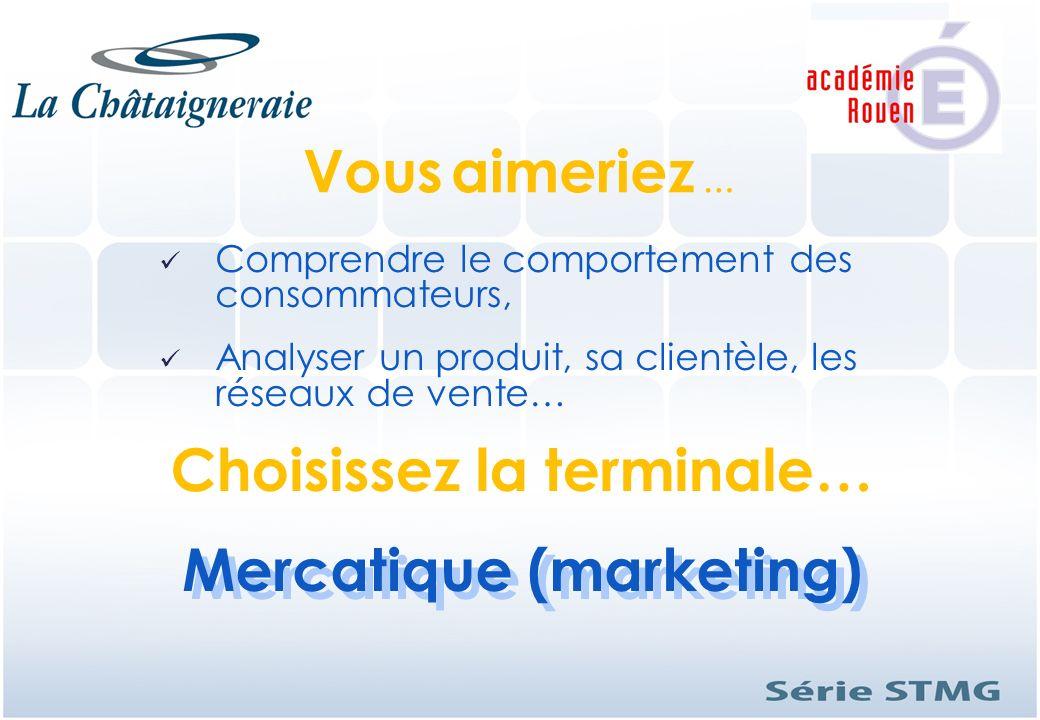 Comprendre le comportement des consommateurs, Analyser un produit, sa clientèle, les réseaux de vente… Mercatique (marketing) Mercatique (marketing) V