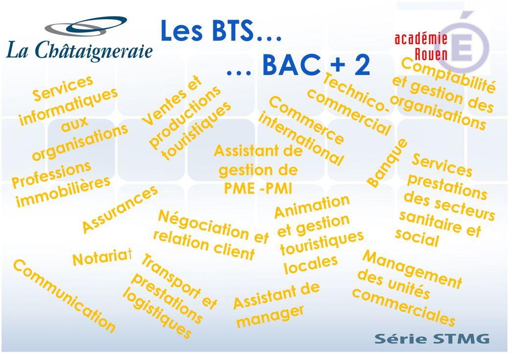 Services informatiques aux organisations Banque Comptabilité et gestion des organisations Professions immobilières Assistant de gestion de PME -PMI As