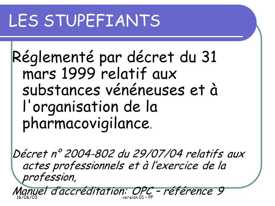 16/06/03version 01 - PP La Dispensation Le personnel infirmier Doit vérifier lidentité du malade, les médicaments au regard de la PM.