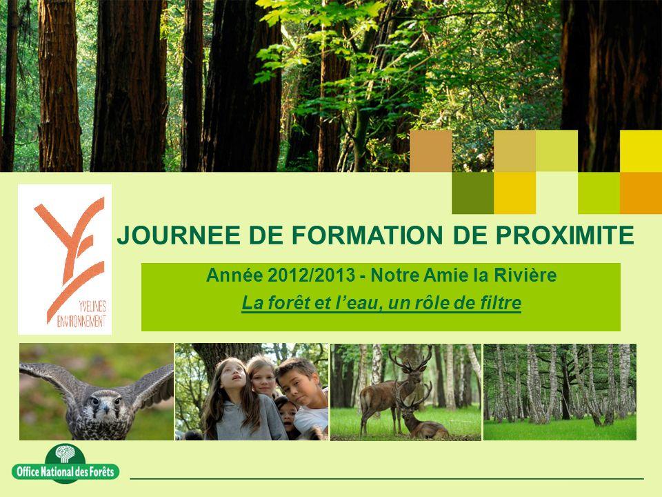 JOURNEE DE FORMATION DE PROXIMITE Année 2012/2013 - Notre Amie la Rivière La forêt et leau, un rôle de filtre