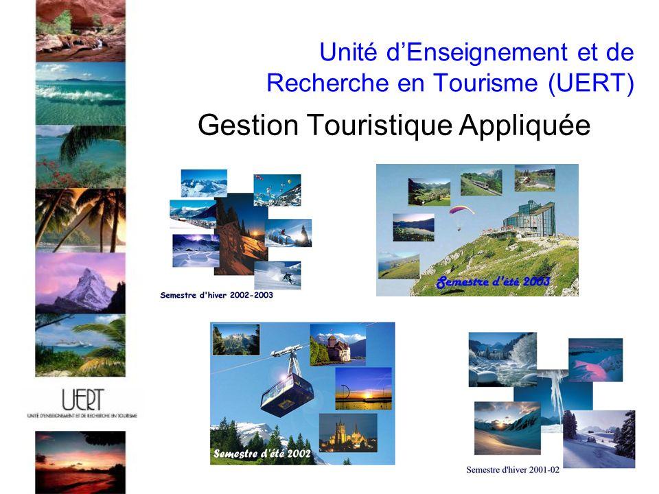Unité dEnseignement et de Recherche en Tourisme (UERT) Gestion Touristique Appliquée