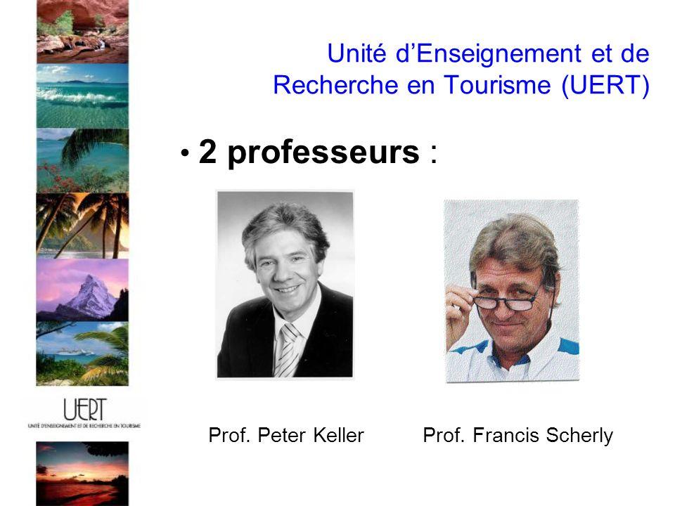 Unité dEnseignement et de Recherche en Tourisme (UERT) 2 professeurs : Prof.