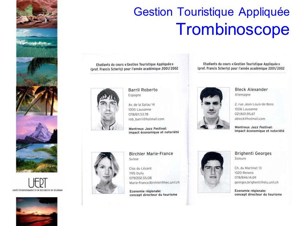 Gestion Touristique Appliquée Trombinoscope