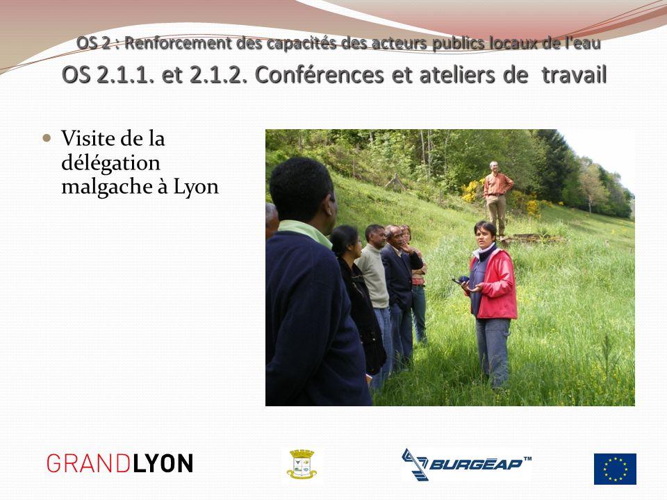 Visite de la délégation malgache à Lyon OS 2 : Renforcement des capacités des acteurs publics locaux de l'eau OS 2.1.1. et 2.1.2. Conférences et ateli
