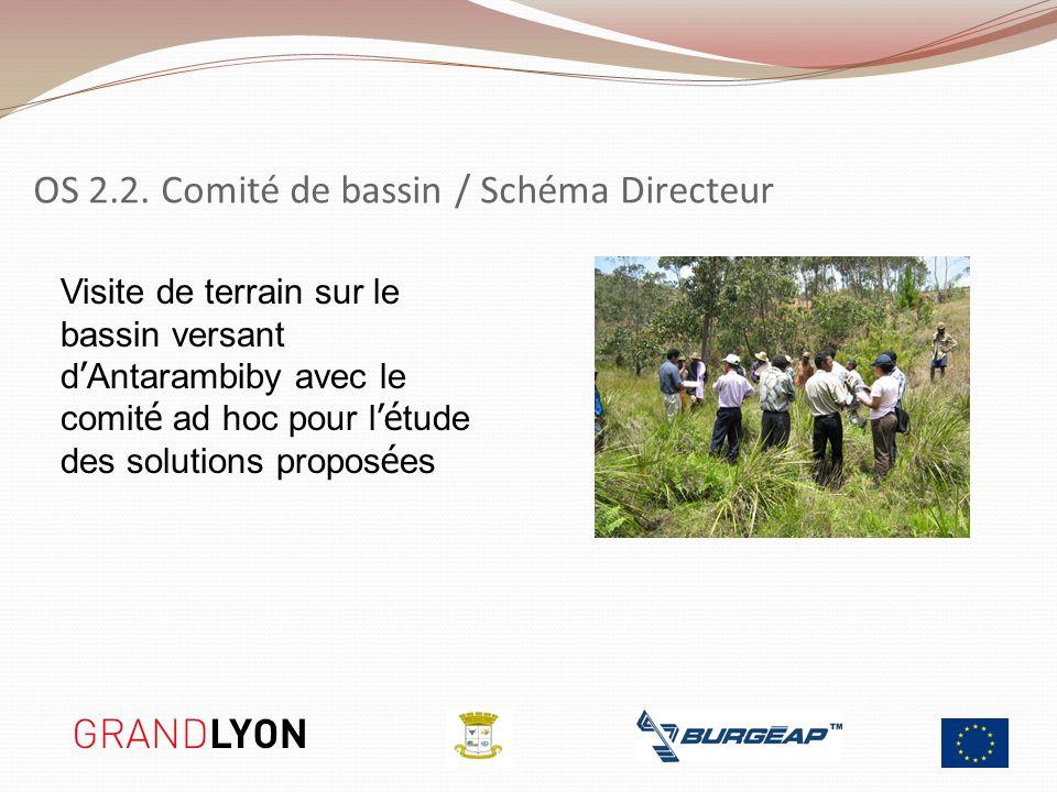 Visite de terrain sur le bassin versant d Antarambiby avec le comit é ad hoc pour l é tude des solutions propos é es OS 2.2. Comité de bassin / Schéma