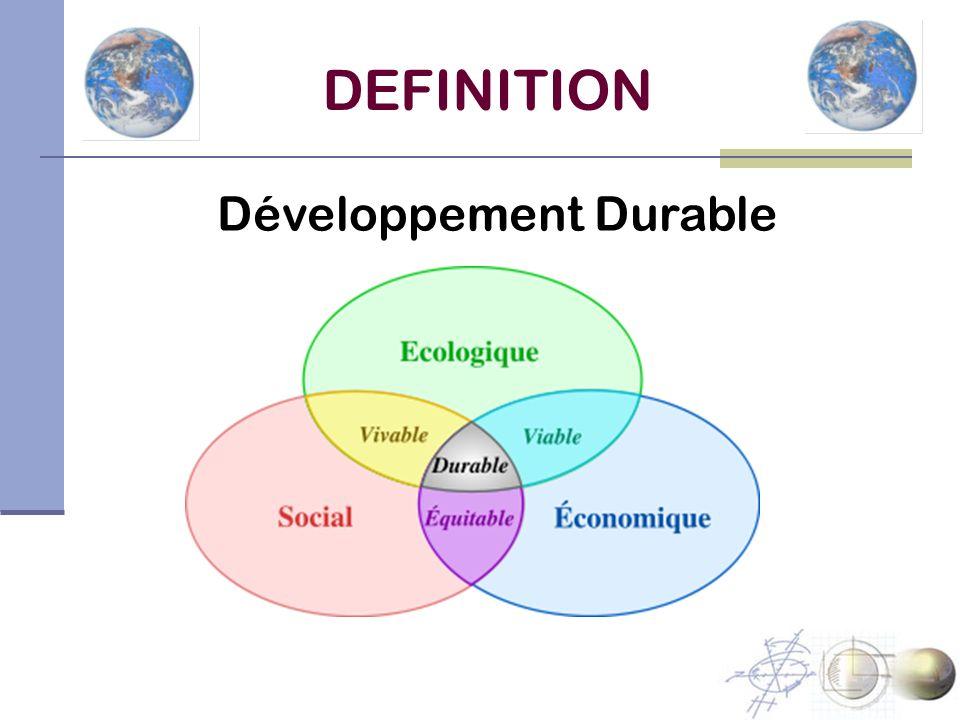 DEFINITION Développement Durable
