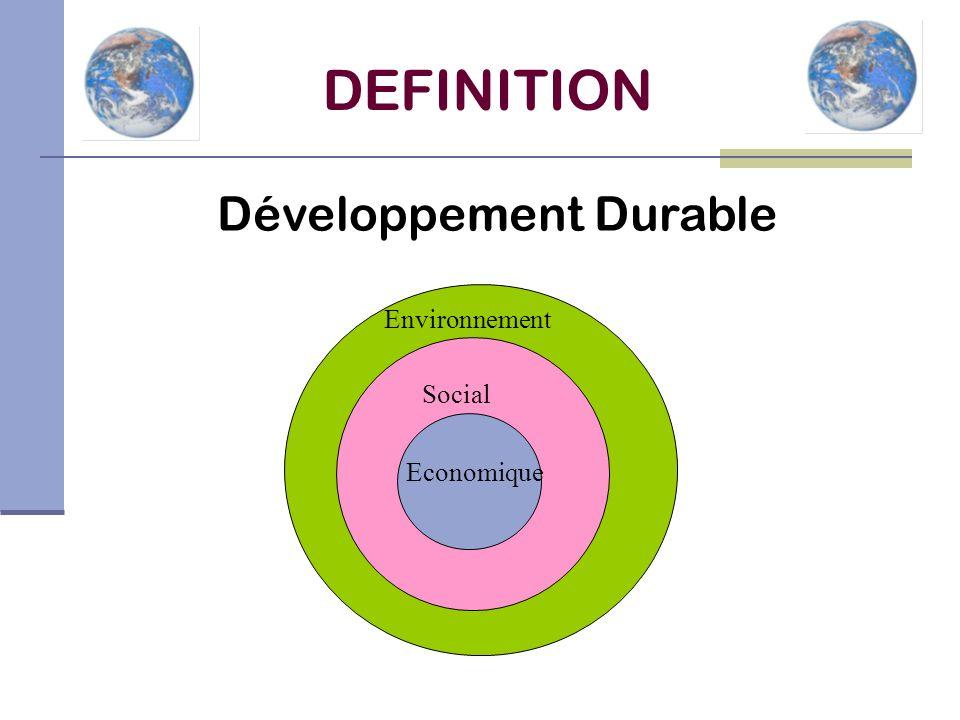 Economique Social Environnement DEFINITION Développement Durable