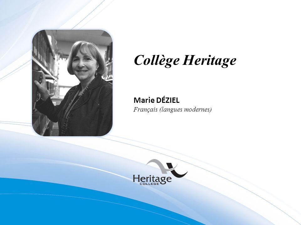 Collège Heritage Marie DÉZIEL Français (langues modernes)